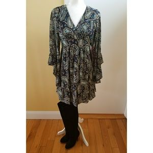 472fe217b789 Betsey Johnson Dresses - Betsey Johnson navy paisley boho peasant dress 2